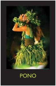 hula poster pono